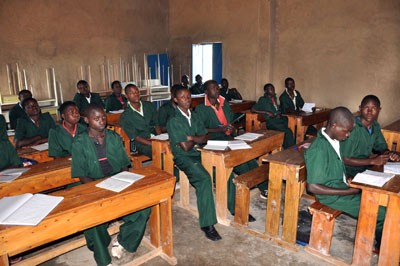Ein renovierter Lehrsaal in Musengo